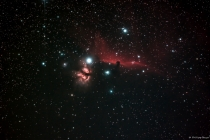 Horsehead and Flaming Star Nebula